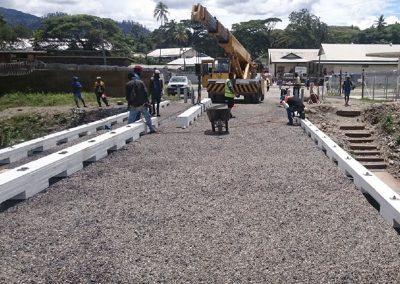 Installing NiuKerb at Bulolo, Papua New Guinea